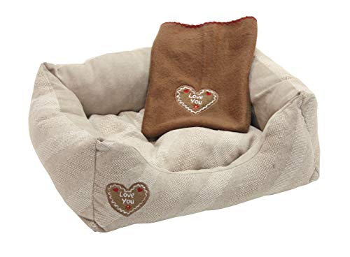 Kerbl snugly Letto Love You, 61 x 48 x 18 cm/65 x 50 cm, Beige