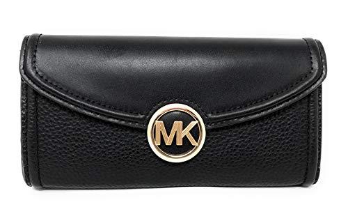 Michael Kors Fulton Large Flap Continental Wallet 35F9GFTE3L-001, black