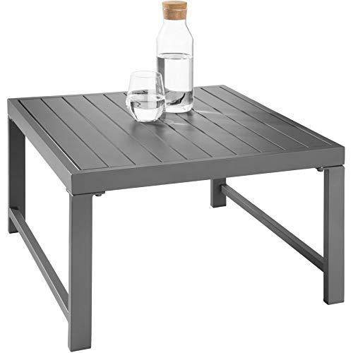 TecTake 403903 Aluminium Sitzgruppe für Garten, Balkon und Terrasse, wetterfest, 6-Fach verstellbare Rückenlehne, inkl. weiche Sitz- und Rückenkissen, grau - 5