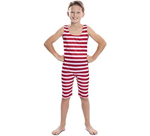 EUROCARNAVALES Disfraz de Bañista Antiguo para niño 7 a 9 años