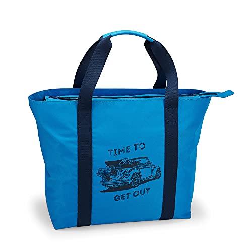 Volkswagen Original Zubehör VW Strandtasche Tasche Beachbag Sommertasche Blau Käfer 37x50x18 7E9087317