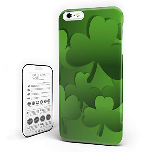 iPhone 6 Case/iPhone 6s Case St. Patrick's Day Design Hard Plastic PC Ultra Thin Protective Phone Case Cover Compatible iPhone 6/6s (4.7 inch) Celtic Irish Green Shamrocks