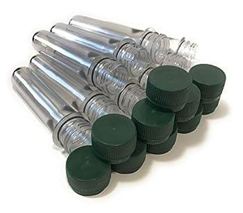 Lot de 10 pétards vides en PET préformés avec couvercle vert pour geocaching Accessoires imperméables Petling transparent préformé