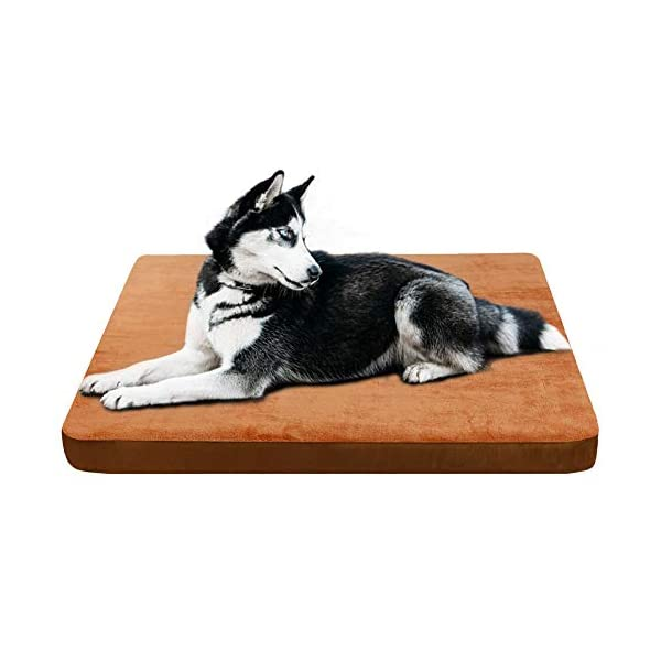 JoicyCo Large Dog Bed Crate Mat Dog Mattress Pet Beds Dog Beds for Large Dogs Foam Cushion Anti-Slip with Washable Cover