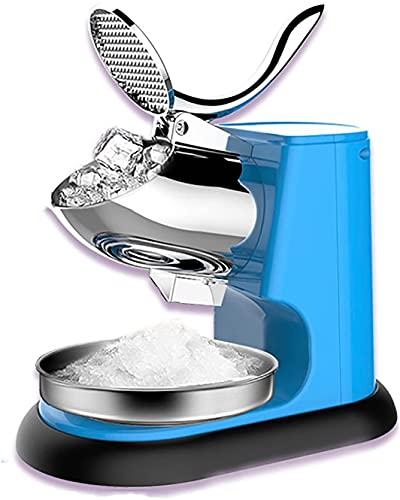 Ghongrm Trituradora eléctrica de Hielo, máquina de afeitadora de Hielo de la Hoja de Acero Inoxidable Comercial, Fabricante de Conos de Nieve, para el Restaurante de la Fiesta. (Color : Blue)