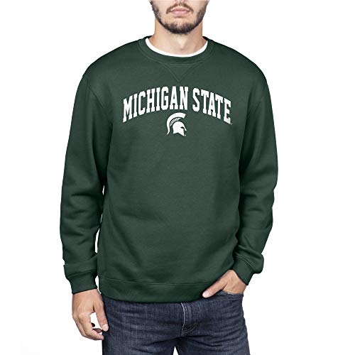 Elite Fan Shop NCAA Herren-Sweatshirt, Crewneck, Herren, Michigan State Spartans Green, Large
