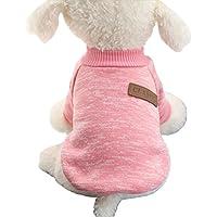 (ワボーズ)Waboats ペットウェア 犬服 猫服 犬の服 犬猫用 ドッグ Tシャツ お洒落 セーター 綿製 暖かい 防寒 コート Tシャツ ペット用品 小中型犬服 XL ピンク