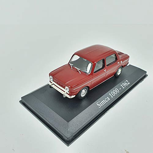 Desconocido 1/43 Auto Coche Car Simca 1000 Granate 1962 ALTAYA