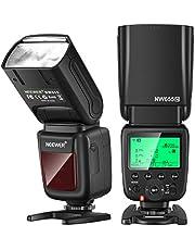 Neewer NW655-N 2.4G HSS 1/8000s TTL GN60 Draadloze Master Slave Flash Speedlite Compatibel met Nikon DSLR D810/D800/D750/D700/D610/D600/D7500/D7200/D7100/D70000/D555555/D55/D5/D5/D7/D70/D550/D7 00/D5300/D90/D5/D4/Z7/Z6 Camera's
