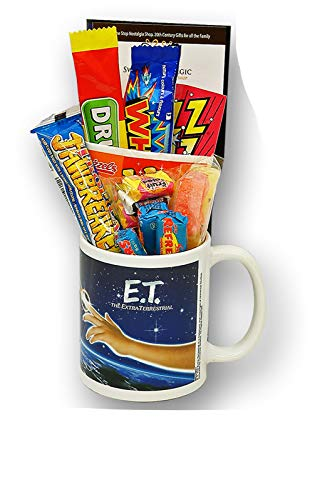 E.T. The Extra Terrestrial 80s Movie Mug filled with retro sweets