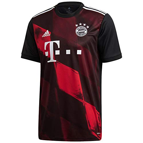 adidas 2020-21 Bayern Munich Third Jersey - Black-Red L