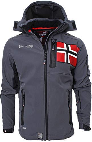 Geographical Norway Herren Softshell Jacke Funktions Outdoor, Grau - S