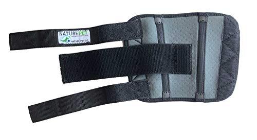 Nature Pet Medium Hunde Handgelenk Bandage Grau/Karpalgelenk Schutz Bandage/Stützbandage für Hunde (XL, Grau)