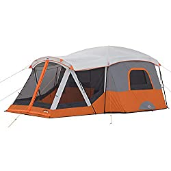 cheap 11-person family tent Khan with screen (orange)