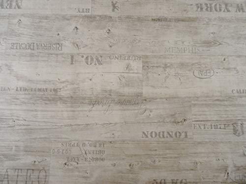 PVC Bodenbelag mit Schriftzügen, weiß (9,95€/m²), Zuschnitt (2m breit, 2m lang)