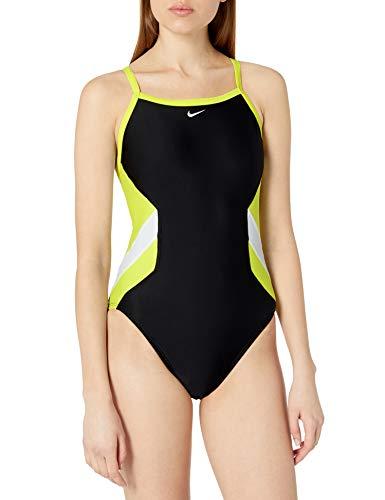 Nike Swim Women's Crossback One Piece, Lemon Venom, 32