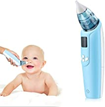 Electric Baby Nasal Aspirator, Safe and Hygienic, Battery Operated Booger Cleaner for Kids(Blue)