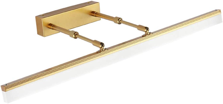 HuAma Nordic Modernen Minimalistischen Spiegel Scheinwerfer Led Wand Lampe Make-Up Lampe (Gold)