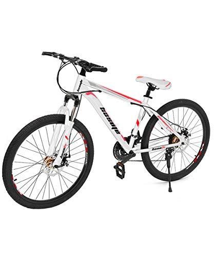C/N Mountain Bike, Disc Brake,26 Inch,21-Speed,Aluminum Alloy Steel Ring(US Stock) (Orange)