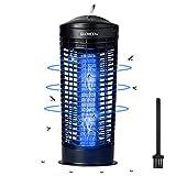 Qxmcov Lámpara Antimosquitos Electrico, Asesino de Moscas,,Matamoscas de Insectos, Matamosquitos 11W UV Con Cepillo de limpieza, Reduce Eficazmente los Insectos Voladores en Interiores y Jardines