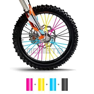 NICOLIE Motorcycle Dirt Bike Off Road Rim Wheel Spoke Skins For Ktm Kawasaki Yamaha Bmw Honda Crf 450 Cr Crf Xr Xl 85 125 250 500 - B