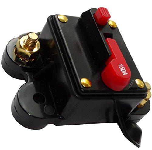 AERZETIX: 150A - 12V 24V 32V 48V - Fusible Automático de Coche - 78x52x37mm - IP67 - Amplificador de Coche vehículo - C14614