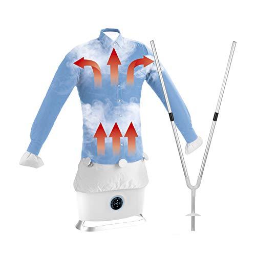 CLEANmaxx Automatischer Hemdenbügler mit Dampffunktion inkl. Hosenaufsatz | Trocknet und glättet Hemden & Blusen und ersetzt Dampfbügelstation | Automatische Bügelstation mit zwei Programmen