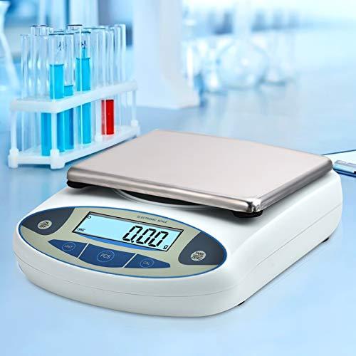 HUKOER Báscula electrónica de alta precisión, balanza electrónica analítica de laboratorio Báscula de precisión digital Básculas de joyería Pesaje de precisión de cocina (5000g, 0.01g)