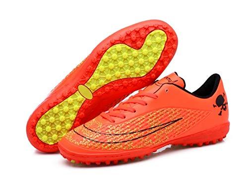 Zapatillas de fútbol Deportivas Zapatillas de Entrenamiento de Hierba de uñas rotas Impresas para Hombres Zapatillas de Deporte Transpirables de Cuero