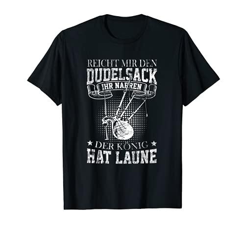 Hombre Tu Narren der Knig hat Laune Dudelsack - Silbato con texto en alemn Camiseta