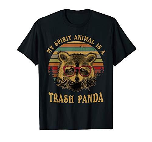 My Spirit Animal is a Trash Panda funny Racoon gift shirt