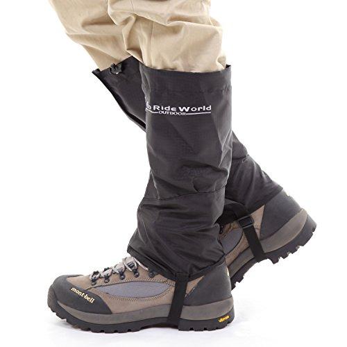 Eco Ride World Outdoor Waterproof Trekking Hiking Walking Climbing Hunting Snow Legging Gaiters (Medium)