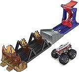 Pista de Juguete Hot Wheels Monster Trucks Salto Fuego Extremo (Mattel GYL12)