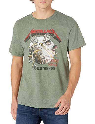 Metallica Tour 88-89 Justice For All Military Green T-shirt, S to XXL