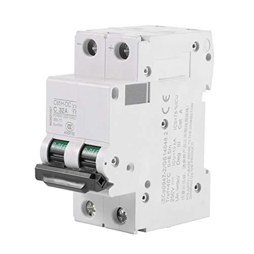 Disyuntor en miniatura, 1 pieza, interruptor de energía solar, 2 polos, industrial para sistema híbrido solar(32A)