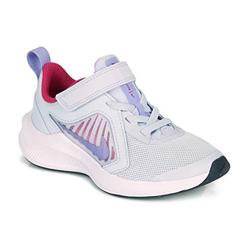 Nike Downshifter 10 (PSV), Zapatillas para Correr Unisex niños, Football Grey Purple Pulse Thunder Blue White, 28 EU