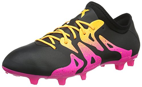 adidas X 15.2 FG/AG, Herren Fußballschuhe, Schwarz (Core Black/Shock Pink/Solar Gold), 44 EU (9.5 Herren UK)