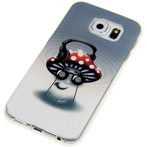 Handy Lux® Schutz Hülle Etui Silikon TPU Cover Hülle Design Motiv für LG G3 s - Pilz