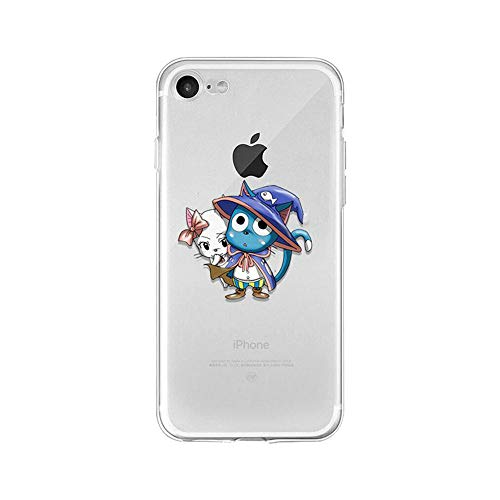 LXXTK Anime Fairy Tail TPU Soft Funda iPhone Case A8 For Funda iPhone 5 5S SE