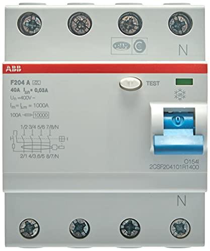 ABB F204 A 40A 30MA INTERR.DIFFERENZ. PURO 4P, White