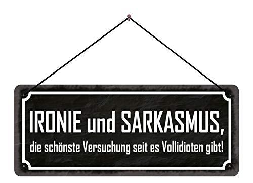 isipho Funschild Spruch Ironie Sarkasmus Schild mit Kordel Dekoschild tin Sign | Hängeschild | Türschild