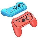 ジョイコングリップ Nintendo Switch 対応 ハンドル Joy-Conハンドル 持ちやすい switch ストラップ代替 グリップ 2個 任天堂 スイッチ マリオメーカー マリオカート スマブラ ハンドル YOSH ブラック