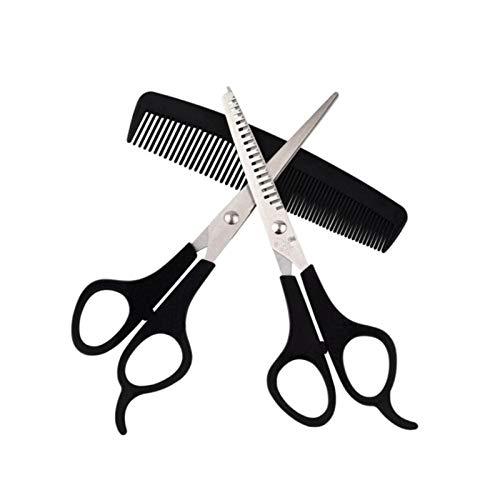 NANANANA Juego de 3 tijeras de aseo para mascotas para perros y gatos, juego de corte de pelo, tijeras curvadas para cortar el pelo