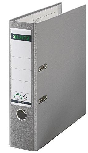 Leitz 10105085 Qualitäts-Ordner Plastik-Cover (A4, 8 cm Rückenbreite) grau