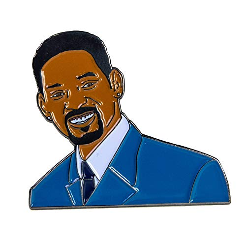 Est Mundun Celebrity Famous Pin Enamel Pin | Pin Set For Jackets, Backpacks, Hats and Jackets (Will Smith)