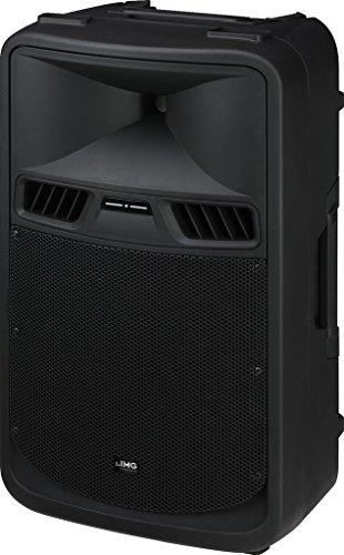 IMG STAGELINE PAK-412 Aktive Power-PA-Lautsprecherbox mit 2-Kanal-Verstärker, 450 W schwarz
