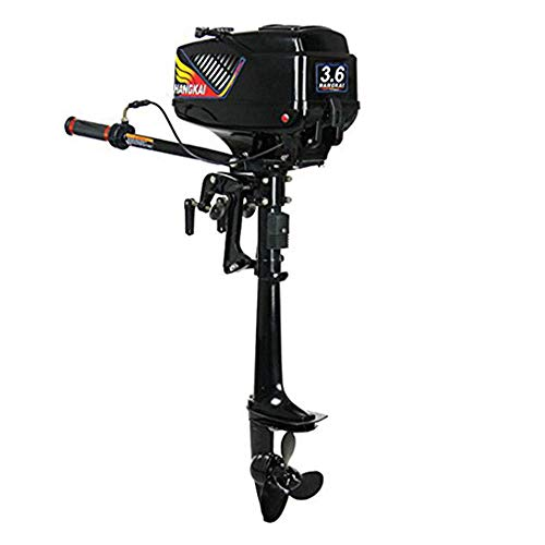 Great Price! WUPYI Outboard Motor,3.6HP 2 Stroke Outboard Motor Fishing Inflatable Marine Boat Engin...