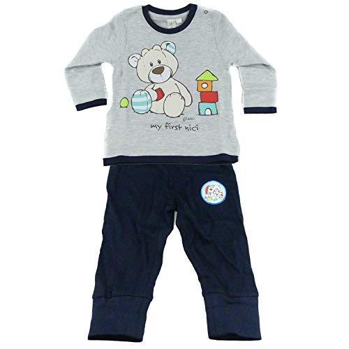 TVM Europe GmbH Baby NICI Ensemble pull et pantalon en coton pour garçon Col rond - Multicolore - taille unique