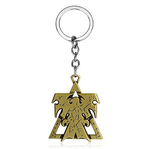 YUNMENG Schlüsselbund Schlüsselring Starcraft 2 Schlüsselbund Frauen Männer Superhelden Flügel Der Freiheit Terraner Metall Auto Schlüsselringhalter Chaveiro
