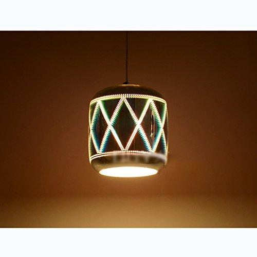 Hängeleuchten Pendelleuchten Kronleuchter Loft Kreative 3D Reflektor Feuerwerk Sekt Kronleuchter, moderne LED Home Schlafzimmer Hotel Dekorative Deckenleuchte (Größe : C)